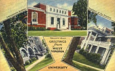 West Virginia University  - MIsc Postcard