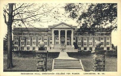 Greenbrier College for Woman - Lewisburg, West Virginia WV Postcard