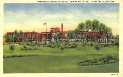 Greenbrier Military School  - Lewisburg, West Virginia WV Postcard