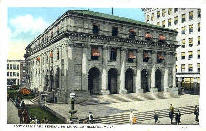 Federal Building  - Charleston, West Virginia WV Postcard