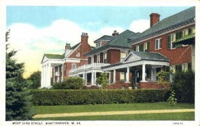 West King Street - Martinsburg, West Virginia WV Postcard