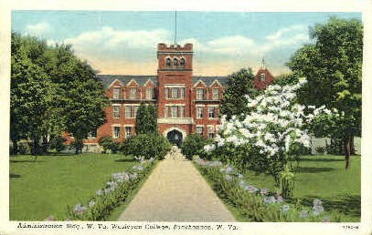 Wesleyan College - Buckhannon, West Virginia WV Postcard