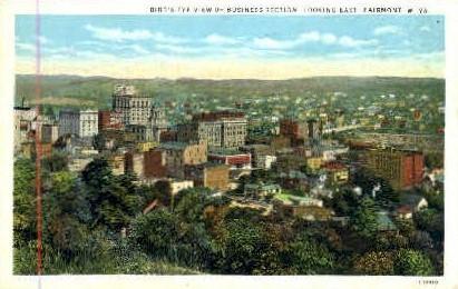 Business Section - Fairmont, West Virginia WV Postcard