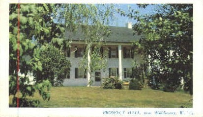 Prospect Hall - Middleway, West Virginia WV Postcard