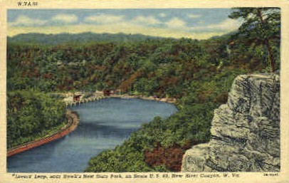 Lover's Leap - New River Canyon, West Virginia WV Postcard