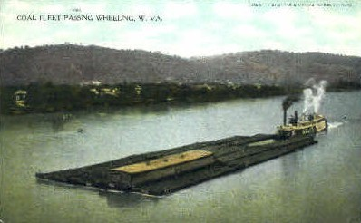 Coal Fleet - Wheeling, West Virginia WV Postcard
