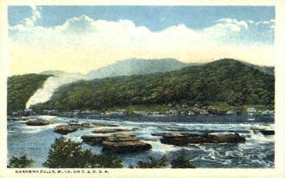 Kanawha Falls  - Charleston, West Virginia WV Postcard