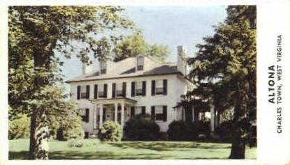 Altona - Charles Town, West Virginia WV Postcard