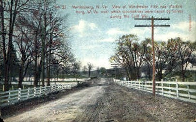 Winchester Pike - Martinsburg, West Virginia WV Postcard