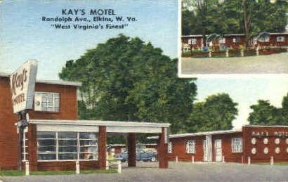 Kay's Motel - Elkins, West Virginia WV Postcard