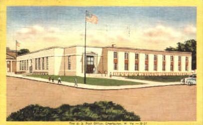 U. S. Post Office - Charleston, West Virginia WV Postcard