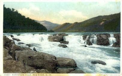 Sandstone Falls - New River Canyon, West Virginia WV Postcard