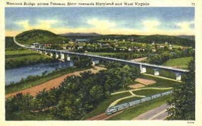 Hancock Bridge  - Potomac River, West Virginia WV Postcard
