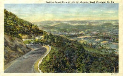 Route 21 - Bluefield, West Virginia WV Postcard