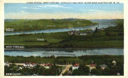 Three States - Huntington, West Virginia WV Postcard