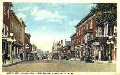 King Street - Martinsburg, West Virginia WV Postcard