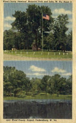 Wood County Memorial Park - Parkersburg, West Virginia WV Postcard