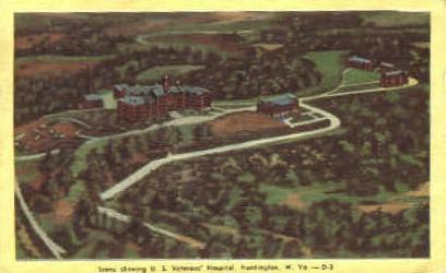 U. S. Veterans' Hospital - Huntington, West Virginia WV Postcard