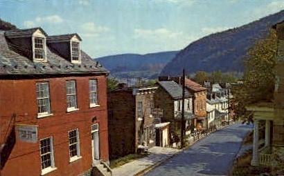 High Street - Harpers Ferry, West Virginia WV Postcard
