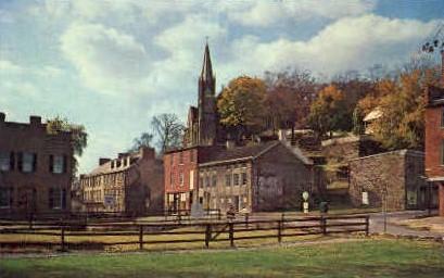 Shenandoah Street - Harpers Ferry, West Virginia WV Postcard