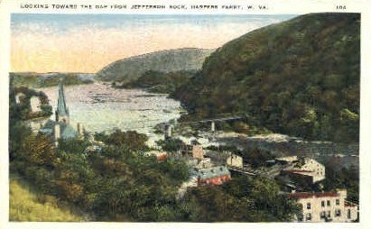 The Gap - Harpers Ferry, West Virginia WV Postcard