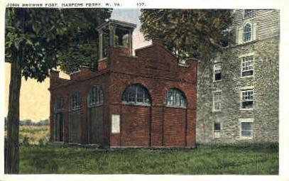 John Brown's Fort - Harpers Ferry, West Virginia WV Postcard