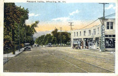 Pleasant Valley - Wheeling, West Virginia WV Postcard