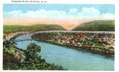 Wheeling Island - West Virginia WV Postcard