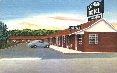 Gateway Motel - Huntington, West Virginia WV Postcard