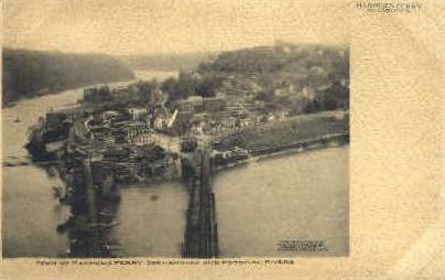 Shenandoah RIver - Harpers Ferry, West Virginia WV Postcard