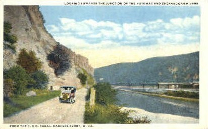 C. & O. Canal - Harpers Ferry, West Virginia WV Postcard