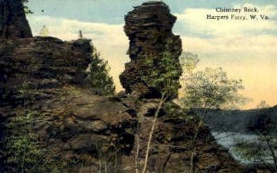 Chimney Rock - Harpers Ferry, West Virginia WV Postcard