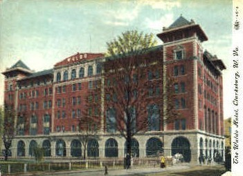 Waldo Hotel - Charleston, West Virginia WV Postcard