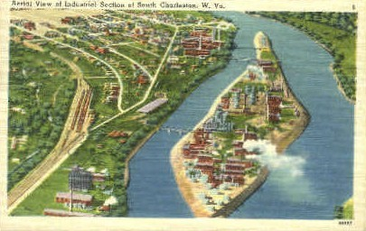 Industrial Section - Charleston, West Virginia WV Postcard
