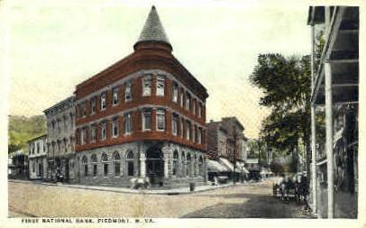 First National Bank - Piedmont, West Virginia WV Postcard