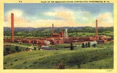 American Viscose Corporation - Parkersburg, West Virginia WV Postcard