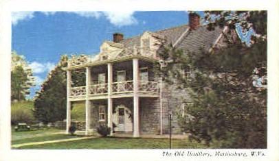 Old Distillery - Martinsburg, West Virginia WV Postcard