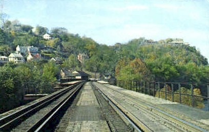 Baltimore and Ohio Railroad Bridge - Harpers Ferry, West Virginia WV Postcard