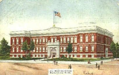 Wm. McKinley School - Parkersburg, West Virginia WV Postcard