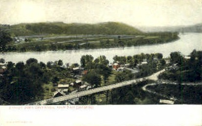 Ohio River  - Liverpool, West Virginia WV Postcard
