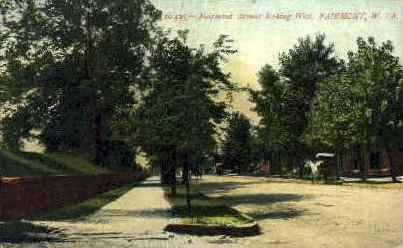 Fairmont Avenue - West Virginia WV Postcard