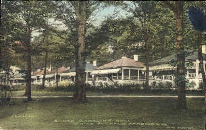 South Carolina Row - White Sulphur Springs, West Virginia WV Postcard