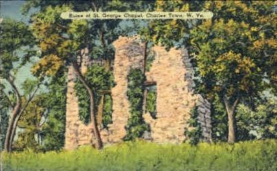 St. George Chapel - Charles Town, West Virginia WV Postcard