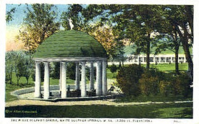 White Sulphur Spring  - White Sulphur Springs, West Virginia WV Postcard