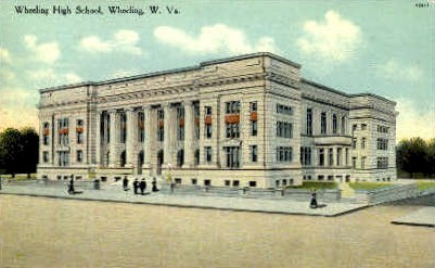 Wheeling High School - West Virginia WV Postcard
