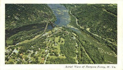 Potomac and Shenandoah - Harpers Ferry, West Virginia WV Postcard