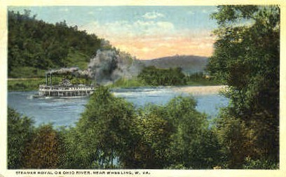 Steamer Royal - Wheeling, West Virginia WV Postcard