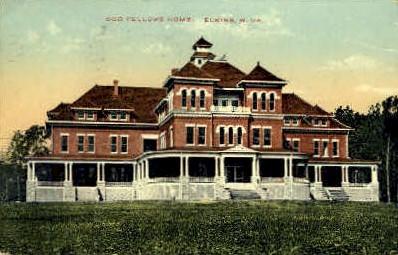 Odd Fellows Home - Elkins, West Virginia WV Postcard