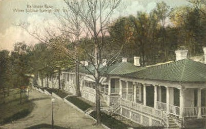 Baltimore Row - White Sulphur Springs, West Virginia WV Postcard