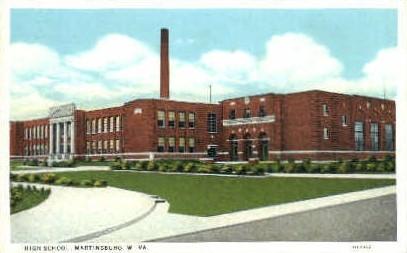 High School - Martinsburg, West Virginia WV Postcard